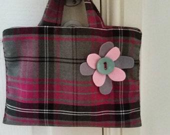 Little girls tartan handbag