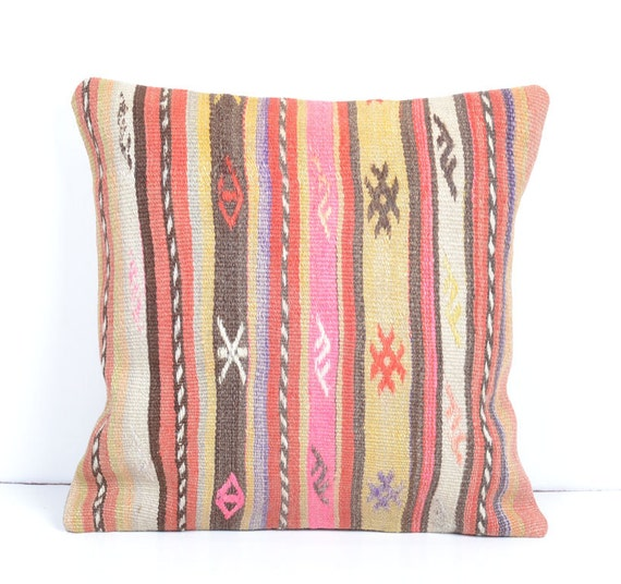bohemian decor beige burlap rug Decorative Kilim Pillow Throw Pillow kilim cushion accent pillow cover sham decorative throw turkish cushion