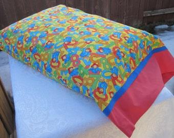 Pillowcase, Pillow case, Paddington Bear, Children's pillowcase, Bear Pillowcase, Child's pillowcase, Children's bed linens, bed linens