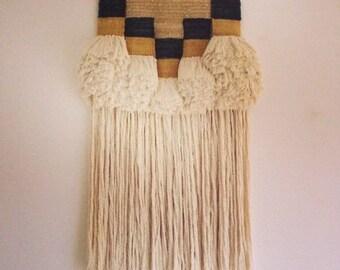 SOLD Hand woven wall hanging weaving - 'Drift' fibre art / textile art / fiber art / tapestry / wall art