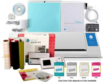 Silhouette Cameo  II Touch Screen  + Vinyl Starter Kit + FREE Dust Cover - 346.97 VALUE