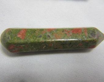Unakite Crystal Gemstone Wand 59 x 13 x 12 mm 20.41 Grams Unakite Jewelry Massage Balance Reiki Healing Chakras Meditation #474