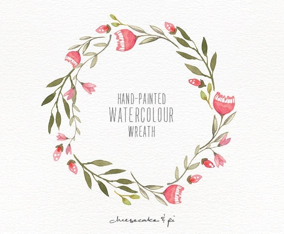 Watercolor Wreath 1 PNG Floral Wreath By LisaGlanzGraphics