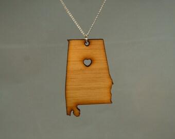 Bamboo Alabama State Necklace
