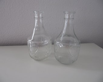 SALE !! Very Fine glas decadenters with patterns