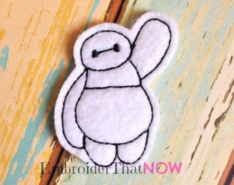 White Hero Digital Feltie Embroidery Design File