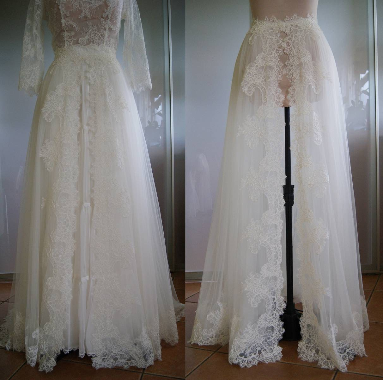 Detachable Skirt Train For Wedding Dress-NIKA. Tulle Lace