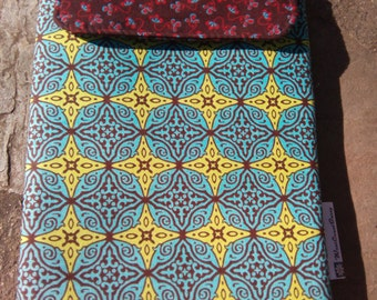 Padded tablet, iPad mini, e-reader case.  Funky, modern, colorful, safe.