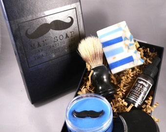 Burds of Paradise Mens Grooming Kit, Shaving. Vegan Friendly, SLS, Paraben and Palm Oil Free
