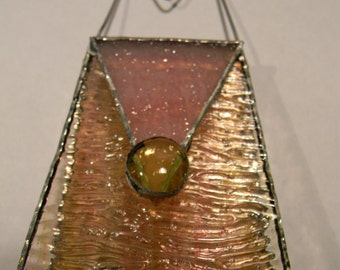 Handcrafted Stained Glass Purse/Suncatcher