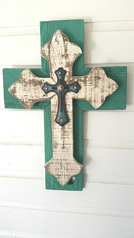 Unique shabby chic wall cross sale rustic by dontthrowthataway - Shabby chic decor for sale ...