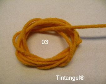 Stick Felt, warm yellow, number 03, 2 meter, Thickness 4 mm, hard