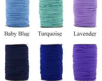 Mandala Crafts® Fabric Elastic Cord, 2mm, 70 Meters