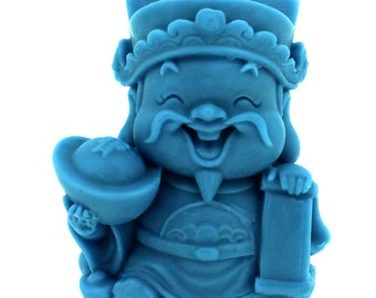 God of Fortune Silicone Soap Mold Craft Candle Clay Handmade Chocolate Candy Baking Cake Mould R1100