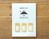 Traveler's Factory Brass Clip plane pattern