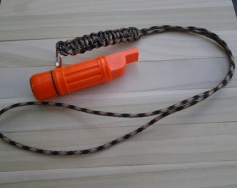 Paracord Whistle Lanyard, Hundreds Of Colors . Free Shipping !