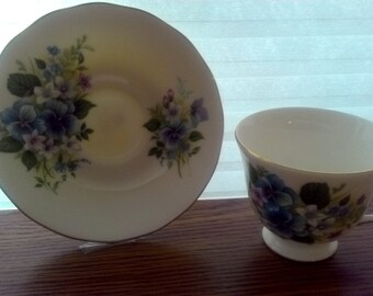 Bone China Queen Anne Cup and Saucer made in England Patt. NO. 8609