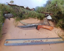 Armageddon Skinner Hunting Knife with Marine Teak wood handles