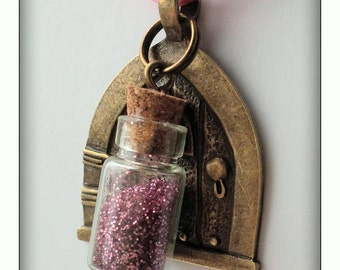 Fairy Door with Pink Glitter