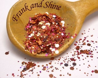 Rose Copper Solvent Resistant Glitter Mix