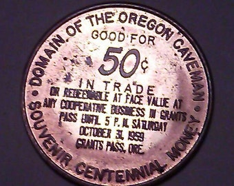 Grants Pass token for community sale or event in 1959