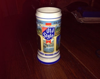 Vintage 1987 Heileman's Old Style Limited Edition Stein
