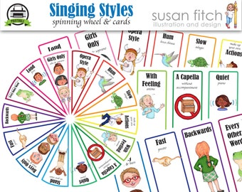 Singing Styles Spin Wheel & cards