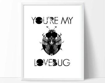 Children's Room Art, art, printable wall art, downloadable print, baby birthday gifts, nursery decor, kids playroom, I love You