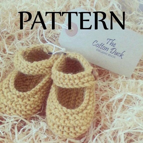 Knitted Mary Janes. PATTERN ONLY. Baby Booties. Girls shoes.