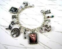 Mom-To-Be Personalized Swarovski Crystal Keepsake Charm Bracelet Pregnant Gift
