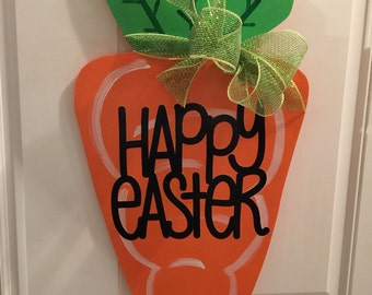 Wood Carrot Door Hanger