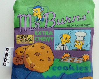 Reusable Snack Bag - The Simpsons - Mr. Burns Cookies - Eco-Friendly Bag Geek Gift