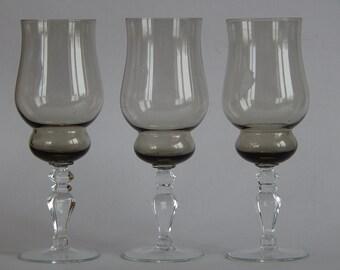 Sovjet-Vintage Champagne glazen Vintage set van 3 USSR glaswerk Sovjet-glazen drinken Champagne