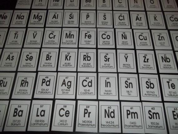 Laminated periodic table of elements printable flash cards like this item urtaz