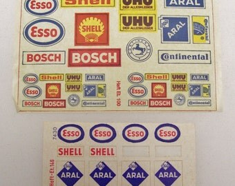 Vintage N scale Decals Haft-Et. 146 7430 & Haft-Et.100 Made in West Germany (Arnold?)