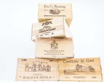 Assorted European Wooden Wine Crates