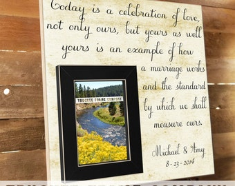 Parent wedding gift, Parent thank you Gift, Parent wedding gift frame, Parent gift ,Today is a Celebration, Thank You Gift Parents 16x16