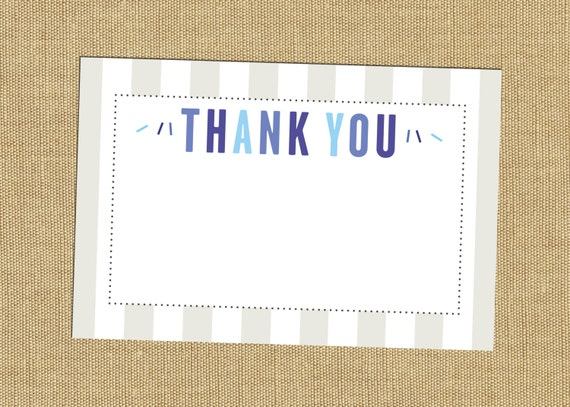 baby sprinkle thank you note cards baby boy shower thank yous blue