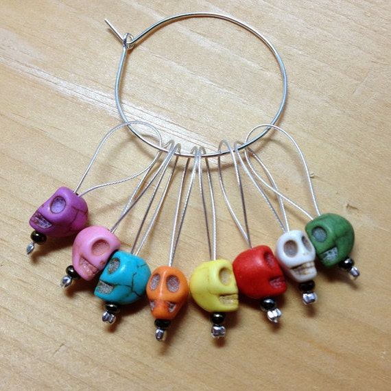 Stitch Markers Snag Free Beaded Knitting Stitch Markers Set