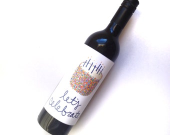 Let's Celebrate Wine Label