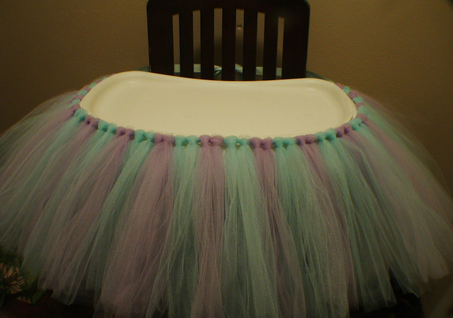 high chair tutu skirt avalible in any color by jasminestulle