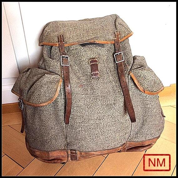 vintage schweizer armee rucksack rucksack des schweizer. Black Bedroom Furniture Sets. Home Design Ideas
