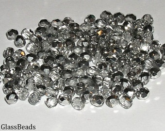 10g CZECH FIREPOLISHED BEADS 4mm 00030/27001
