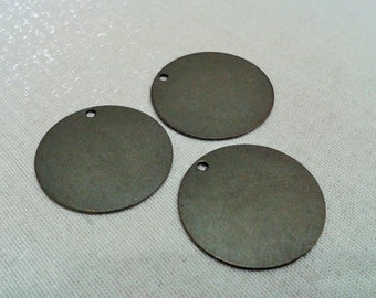 50 Pcs Antique Bronze 20 mm Stamping Blanks Disc