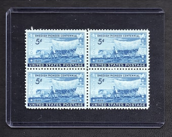 Swedish Pioneers Centennial 1948 - Four Unused Postage Stamps