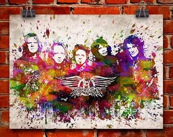 Aerosmith In Color Poster, Home Decor, Gift Idea