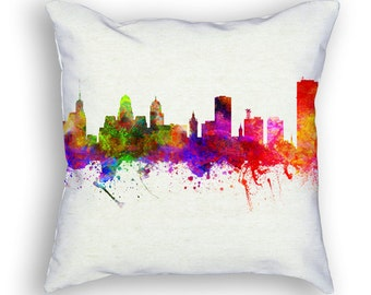 Buffalo New York  Throw Pillow, 18x18, Cushion Home Decor, Gift Idea, Pillow Case 02