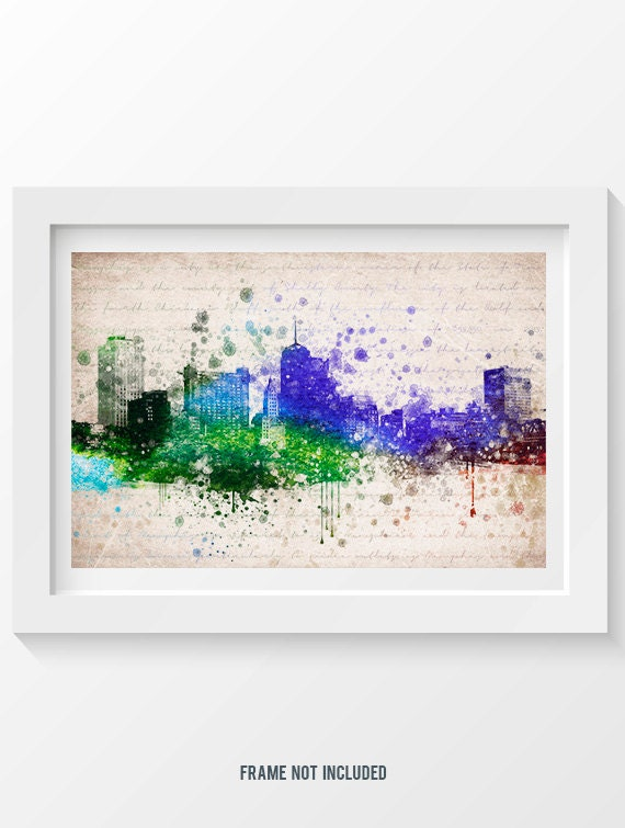 Memphis Tennessee Skyline In Color Poster Home Decor Gift