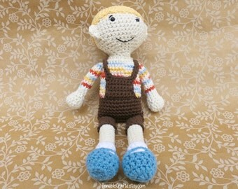 JONNY Boy Doll // Crocheted Amigurumi // Handmade Doll
