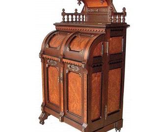"3395 Wooton ""Ladies Model"" Patent Secretary Desk in the Eastlake Style"